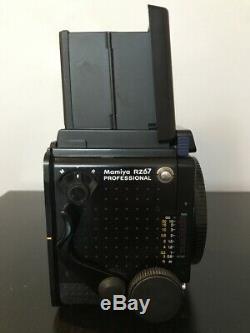 Mamiya RZ67 Pro SLR Film Camera Sekor Z 90mm Lens + 2 120 Film Backs + Polaroid