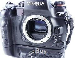 Minolta Dynax 9 Professional 35mm Film Manual Slr Camera With Dm-9 Back + Grip