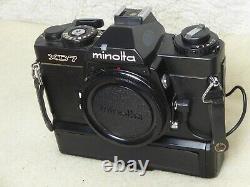 Minolta XD7 Black 35mm SLR Film Camera + data back d fully tested stunning