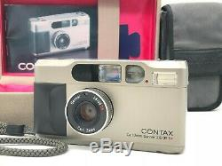 Mint Contax T2D 35mm Point & Shoot Film Camera Date Back + Strap + Case Japan
