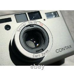 Mint Contax T3 Silver 35mm Film Camera Double Teeth with Data Back