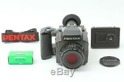 Mint Pentax 645 Camera + SMC A 75mm f2.8 Lens 120 Film Back + Strap From Japan