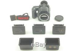 N MINTPentax 645 NII Film Camera with 3Film Backs (120x2,220x1) Strap JAPAN 1187