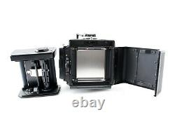 N MINT Bronica SQ-A Camera + S 80mm f/2.8 120 120J 2 Film Back set From Japan