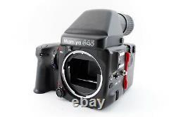 N MINT Mamiya 645 Pro Camera body + AE Prism finder + 120 Film Back Japan 9561
