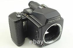 N MINT Pentax 645 Film Camera + SMC A 55mm f/2.8 Lens 120 Film Back From JAPAN