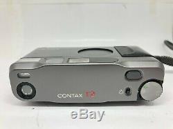 Near Mint Contax T2 D Titan Black Data Back 35mm Film Camera From Japan