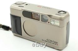 Near Mint Contax T2 Data Back Silver 35mm Point & Shoot Film Camera from JAPAN