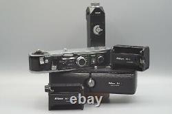 Nikon F2 Data Film Camera & MF-10 Data Back MD-2 Motor MB-1 Battery Pack Kit