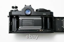 Nikon FE2 35mm SLR Film Camera with MF-16 Data Back + 50mm 1.4 AIS Lens Black