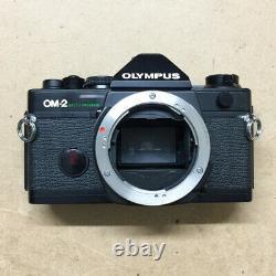 Olympus OM2 OM-2 Spot Program 35mm SLR Film Camera Body, BLK with Recordata Back 4