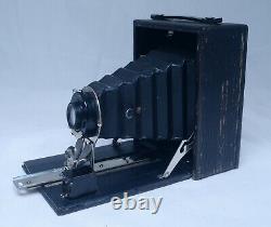 POCKET SENECA No. 29 Antique Folding Film Camera Wollensak Lens w Case Backs USA