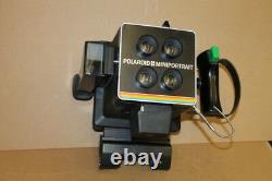 Passport camera, ID badge, 4x5 film, 545 back, Miniportrait 454 Polaroid