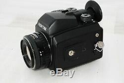 Pentax 645NII Medium Format SLR Camera Pentax FA 75mm f2.8 120 film back #2740