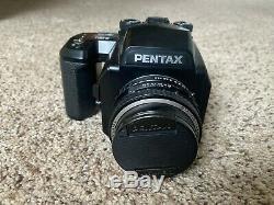 Pentax 645N Medium Format Film Camera SMC FA 75mm f2.8 Lens 120 Film Back