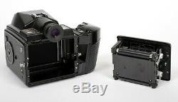 Pentax 645 6X4.5 medium format SLR film camera with 75mm F2.8 lens 120+220 backs