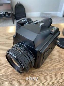 Pentax 645 Medium Format SLR Film Camera with 75mm and 150mm lens. 220 Film Back