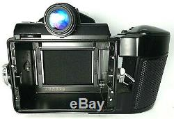 Pentax 645 SLR film camera withsmc pentax-a 645 45mm f2.8 lens and 220mm film back