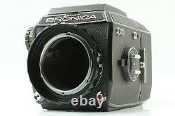 READ EXC+5 Bronica EC Black 6x6 Camera Body with Waist Finder Film Back JAPAN