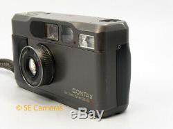 Rare Titanium Contax T2 Data Back 35mm Film Camera Good Condition