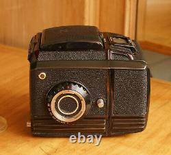 Rare all Black Zenza Bronica S2A Medium Format SLR Film Camera Body & Film Back