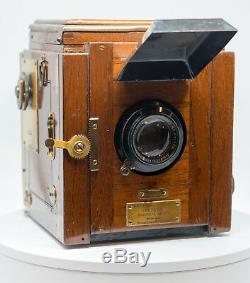 Tropical Ensign Popular Reflex Camera 15cm 4.5 Xenar mod 6x9 Film Back Tropen