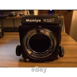 Used Mamiya RZ67 Pro Film Camera Body with WLF, 120 Film Back, and Lightmeter