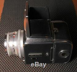 Vintage HASSELBLAD 500C CAMERA with 80MM & 120-12 film back, and bracket