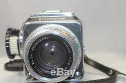 Vintage HASSELBLAD 500C Film Camera with 80mm Planar, A12 Back, Meter Knob