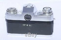 Zeiss Contarex Bullseye camera. Carl Zeiss Tessar 50mm f2.8. Case. Film Back